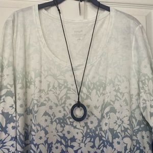 J. Jill Jewelry - J.Jill sculpted lapis reversible pendant, NWT